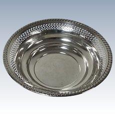Sterling Pierced Openwork Bowl