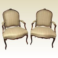 Pair of Circa 1800 French Louis XV Bergere Chairs