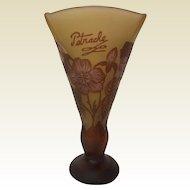 Petrache Cameo Glass Glass Vase