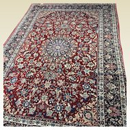 "Fine Persian Isfahan Silk Foundation Rug 6' 8"" x 10' 4"""