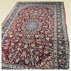 "Fine Persian Isfahan Silk Foundation Rug 6' 8"" x 10' 4"""