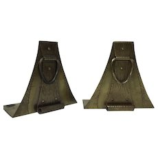 Pair of Roycroft Arts & Craft Bronze Bookends