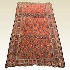 "Antique Ersari Turkmen Trible Natural Dyes Turkman Rug 74"" x 42"""