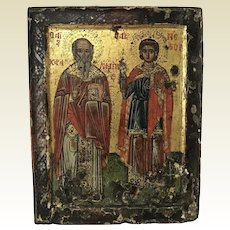 "18th Century or Earlier Russian Icon 12"" x 9.5"""