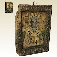 "Rare 17th Century or Earlier Double Sided Russian Icon 8.5"" by 6.25"""