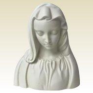 Vintage Boehm Usa Porcelain Bisque Madonna / Virgin Mary Figurine Bust Statue