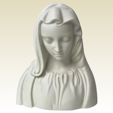 Vintage Boehm Usa Porcelain Bisque Madonna / Virgin Mary Figurine Bust Statue