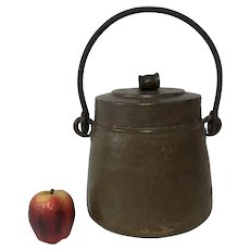 Antique Italian Hand Hammered Copper Pot W/ Lid