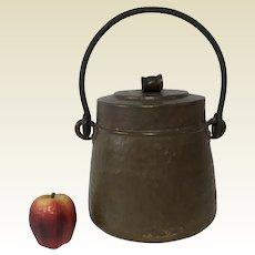 Antique Italian Hand Hammered Copper Pot W/ Lid