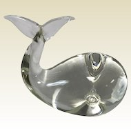 Vintage Murano Art Glass Signed Whale