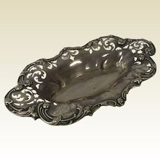 Woodside Sterling Co. Reticulated Repossue Nut Trinket Bowl Tray