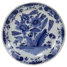 18th Century Dutch Delft Plate Shallow Bowl