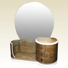 Art deco Vantiy Dressing Table in Tiger Maple