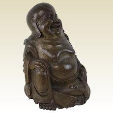 Chinese Carved Bamboo Laughing Buddha