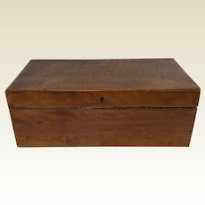 Rare 19th C New England Tiger Maple W/ Side Drawer Lap Captain Writing Desk Box