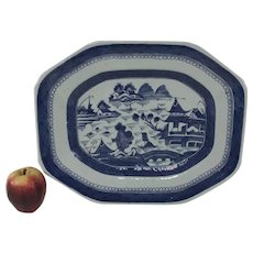 """Large 19th Century Chinese Porcelain Canton Platter 16"""""""
