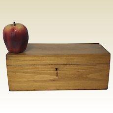 Antique 19th C New England Pine Document Valuables Box
