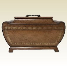 Maitland Smith Tooled Leather Dresser Valuables Jewelry Box