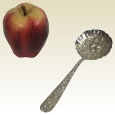 "S Kirk & Son Repousse Sterling Serving 7.5"" Bonbon Spoon"