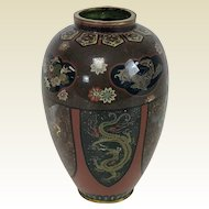 Fine Antique Japanese Meiji Period Cloisonne Vase