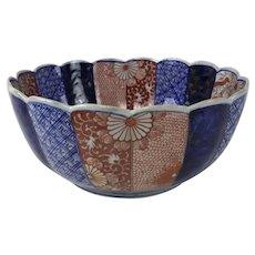 Large 9th Century Japanese Porcelain Imari Bowl