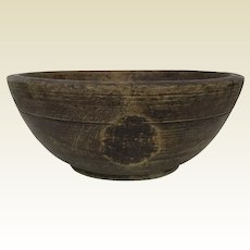 18th Century Continental Turned Wooden Bowl