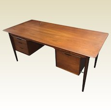 J Clausen Brande Mobelfabrik Mid Century Danish Teak Floating Office Desk