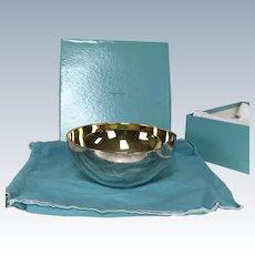 "Tiffany & Co. Elsa Peretti Thumbprint 7.5"" Sterling Silver Bowl W/ Original Box"