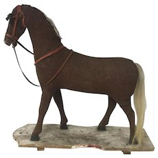 Early 1900's Large German Pull Toy Horse
