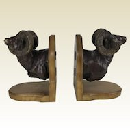 Large Limited Edition 21/50 Bronze Ram Bighorn Sheep  Bookends by Dennis Jones