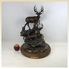 Large Limited Edition 49/50 Dennis Jones Bronze Sculpture 'buck Stops Here'