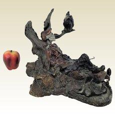 """Limited Edition 23/50 Dennis Jones Bronze Sculpture of Hunter """"Hunter's Skeleton"""