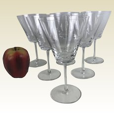 Set of 6 Signed Lalique Wine Glass