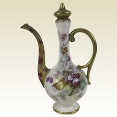 Rare American Belleek Early Lenox Floral Cruet Ewer Palette Mark Ca, 1889-1906