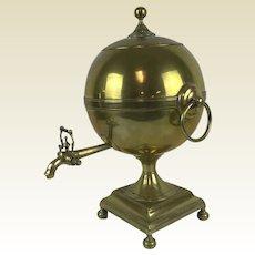 19 / 18th Century English Brass Samovar Hot Water Urn Signed J & W Grieve