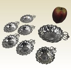 7 Piece Gorham Sterling Nut Dish Place Card Holders