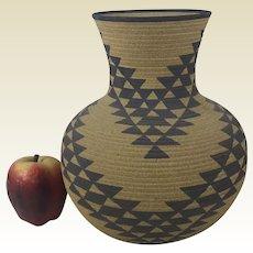 "David Salk Ceramic Pottery Miwok Indian 10"" Vase"
