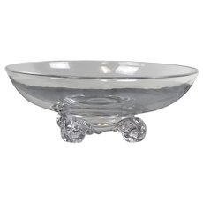 Steuben Glass Footed Center Bowl