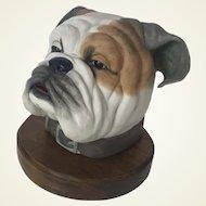 Edward Boehm Hand Painted Mack Bulldog Porcelain