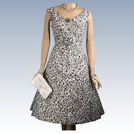 Vintage 1950s IKAT Cheetah Summer Day Sleeveless Madmen Dress