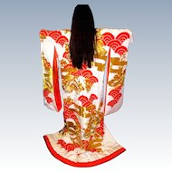 Pair of Vintage Uchikaki Japanese Wedding Kimono Set