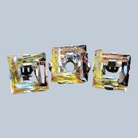 Vintage Modernist Silver Elena Munoz Mexico Ring Earring Set