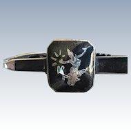 Vintage Siam Silver Niello Enamel Goddess Tie Clip~Scarf Pin Ethnic Tribal