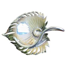 Studio Robyn Nichol Silver Palm Thatch Leaf Pin Brooch