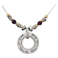 Who can find a Virtuous Woman  For her price is far above Rubies Necklace.