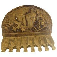 Antique Oil  Brass Hanucha Menora 19 century. Antique Judaica