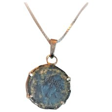 Silver necklace with Antique Roman coin from Jerusalem