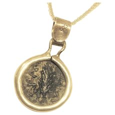 Silver Ancient Jewish Coin necklace