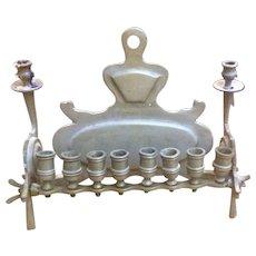 Vintage Brass Hanuka Menorah