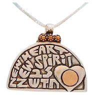 """A New  Heart I Will Give You"" Leehee necklace."